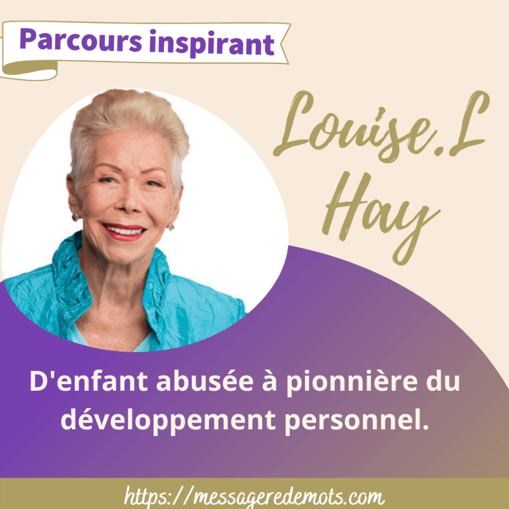 Template canva Louise Hay parcours inspirant